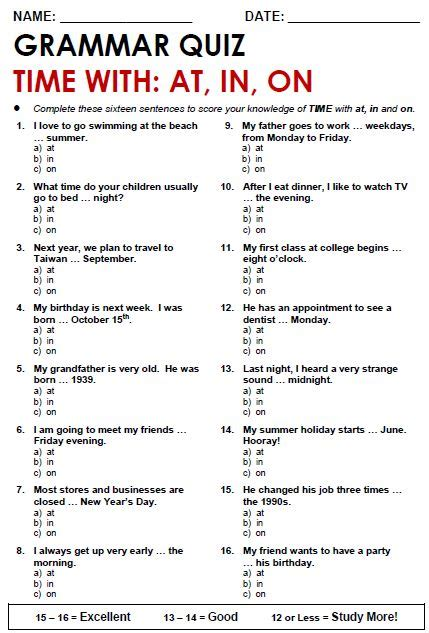 Grammer Worksheets by Free Printable Pdf Grammar Worksheets Quizzes And