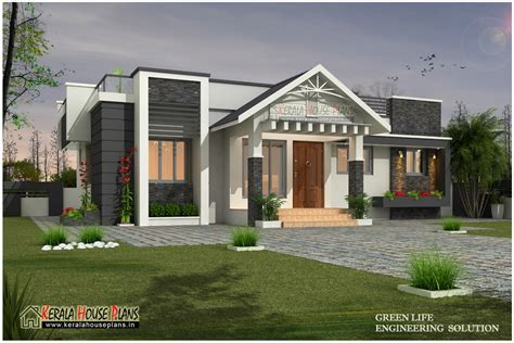 home design for single floor beautiful modern single floor house design kerala house