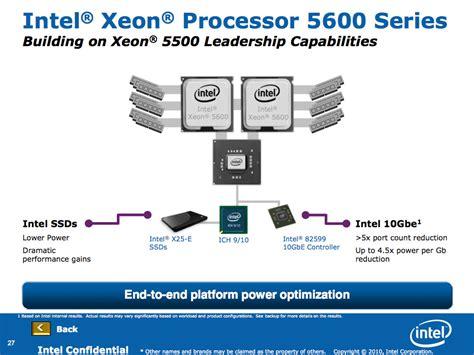 Lu Xeon Gt intel pr 228 sentiert mit westmere ep neue xeon prozessoren