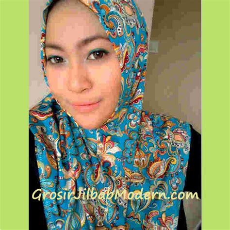 Longdres Maroko By Batik Fa jilbab syria batik modern toska grosir jilbab modern
