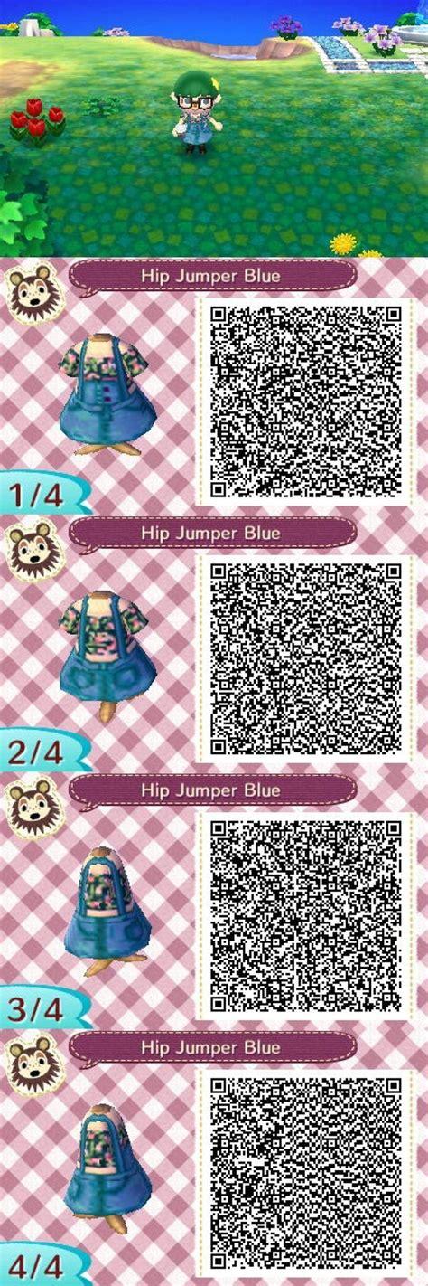 acnl spring colors blue jumper w floral crop top acnl qr clothes animal