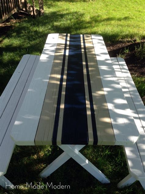 cool painted picnic tables need a unique idea for that old picnic table