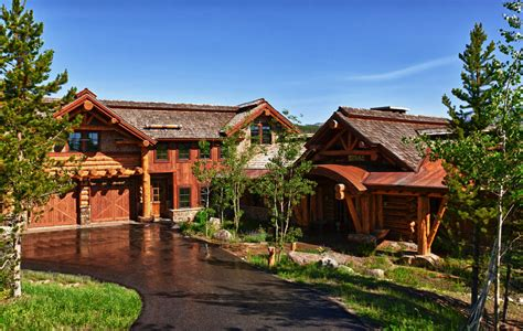 luxury cabin homes koselig hus big sky log cabin teton heritage builders