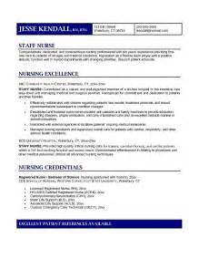 Rn Nursing Resume Exles by Exle Staff Resume Free Sle