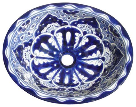 talavera bathroom sinks made to order talavera hand painted spanish style sink small mediterranean