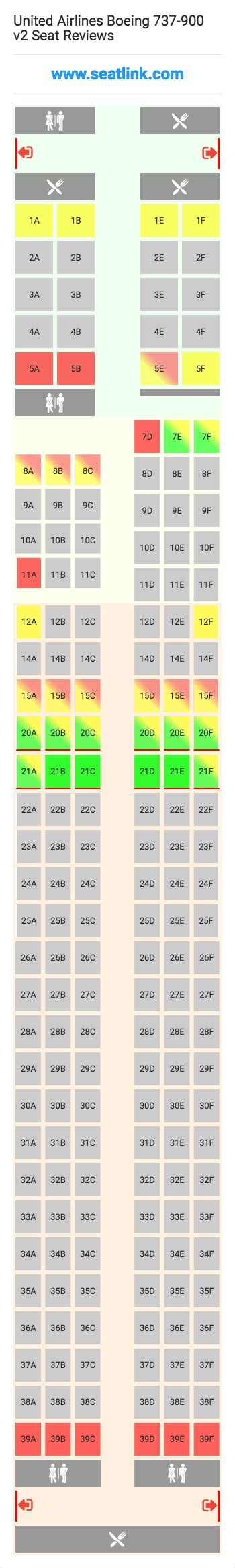 b737 900 config 1 korean air seat maps reviews united airlines boeing 737 900 v2 seating chart updated