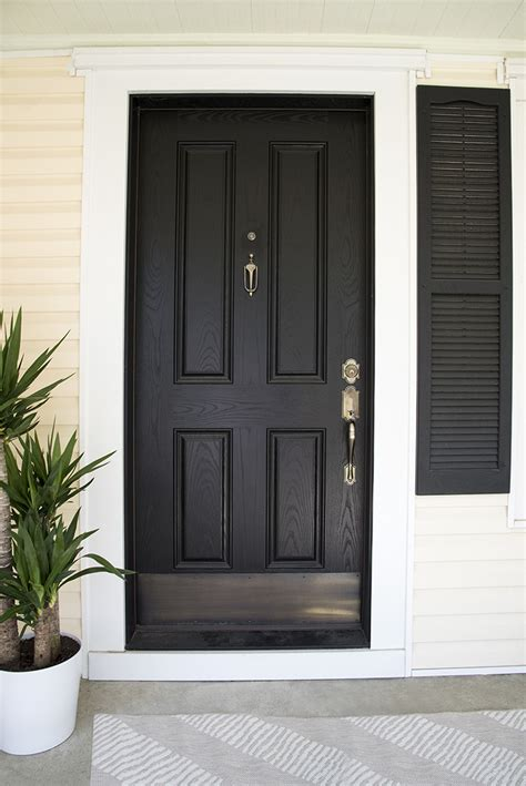 Black Kick Plates For Front Doors Front Door Brass Kick Plate 5 Tips For Styling A Covered Porch Room For Tuesday Solid Brass