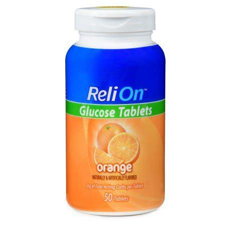 Tablet Relion relion orange glucose tablets 50 ct walmart