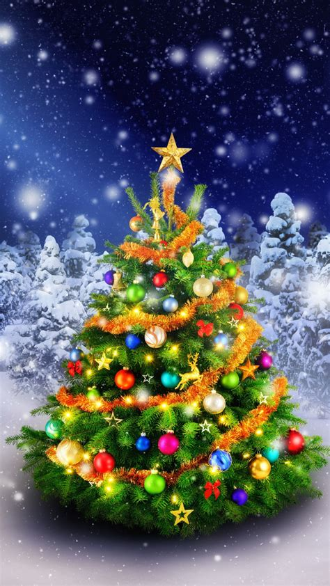 wallpaper christmas tree spruce trees decoration snowfall  celebrations christmas