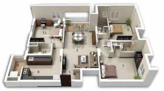 three bedroom house apartment floor plans bhk home vaastu oriented layout and design kerala