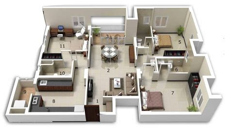 New Home Design Layout 25 three bedroom house apartment floor plans