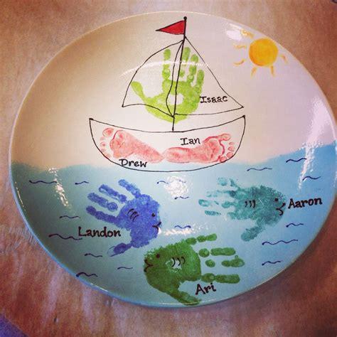 color me mine voorhees sailboat footprints painted at color me mine in voorhees