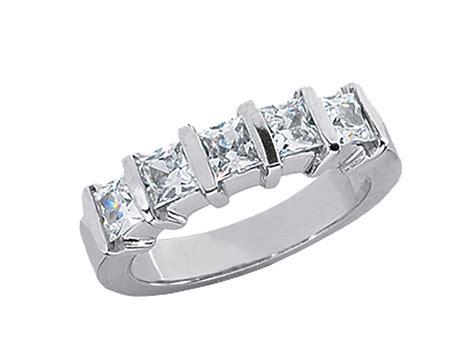 1 15ct wedding band ring platinum princess