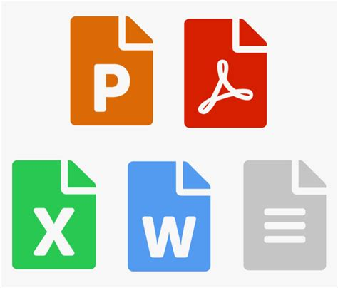 icons  powerpoint  excel word  documents