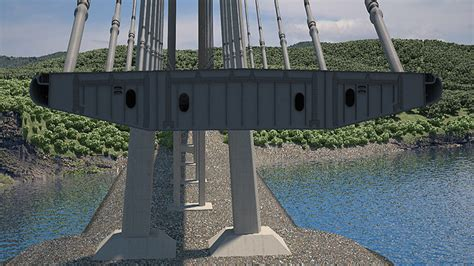 section of a bridge about the project construction of а cable stayed bridge