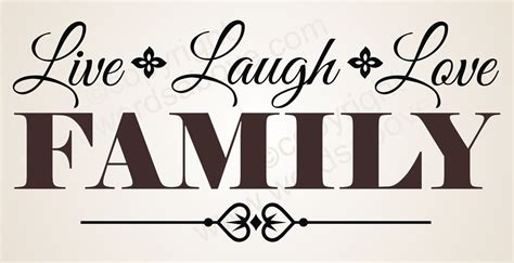 family wall decals live laugh vinyl wall decal quote