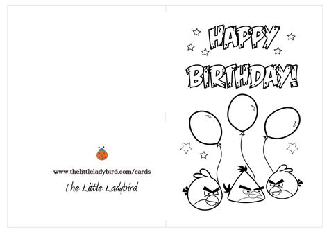 printable birthday cards that can be colored 6 best images of angry birds printable happy birthday