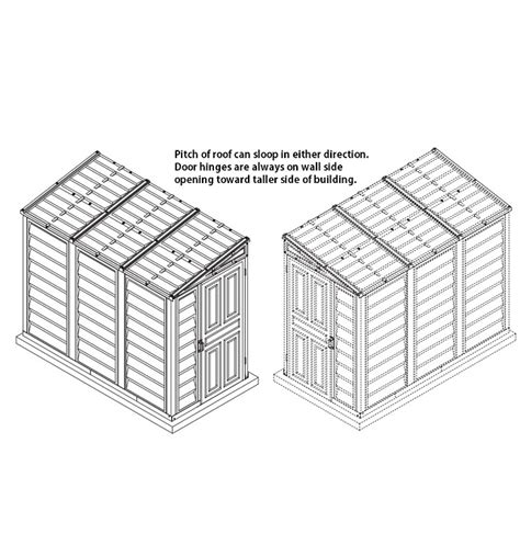 4x8 Vinyl Shed by Duramax 00614 Vinyl 4x8 Storage Shed On Sale With Fast