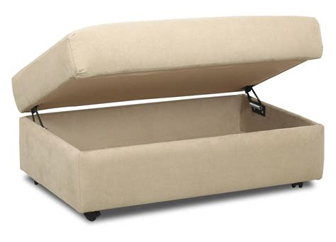 Klaussner Storage Ottoman Klaussner Possibilities Storage Ottoman With Wheels Value City Furniture Ottomans