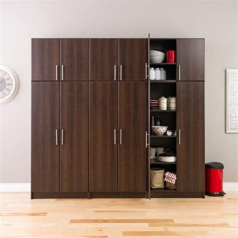 prepac elite 32 storage cabinet espresso 32 quot storage cabinet in espresso ees 3264
