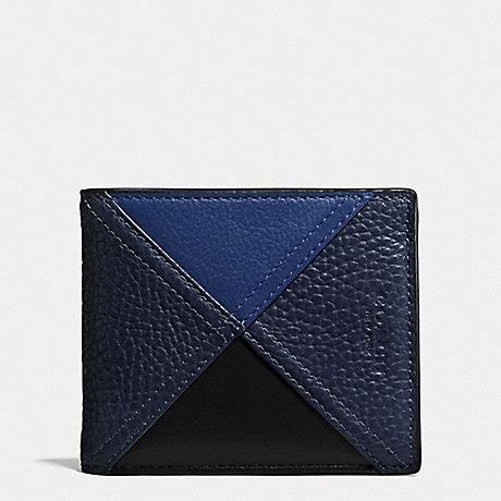 Coach Patchwork Wallet - coach f56599 3 in 1 wallet in patchwork leather indigo