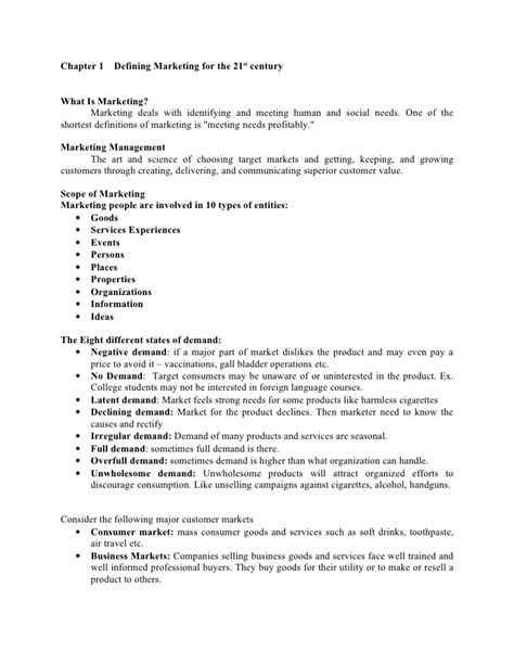 Advertising And Brand Management Notes For Mba Pdf by Marketing Management Summary