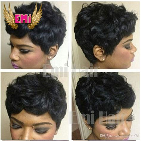 remy wigs for black women with round faces short human hair wigs short brazilian short curly hair cut
