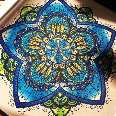 mandala coloring book with markers 250 best images about chameleon pen mandala s on
