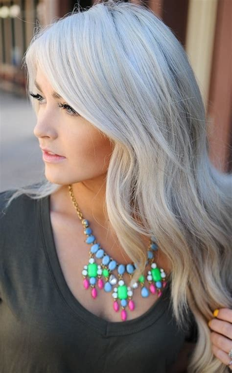 silvery blonde hair dye hair trend for spring silver blond
