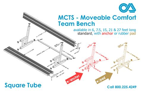comfort team mcts moveable comfort team bench square tube outdoor