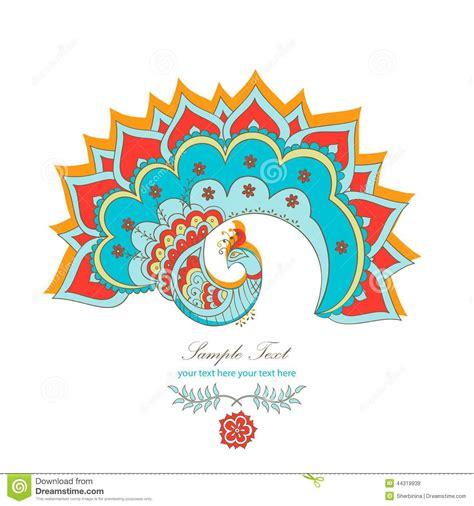 dibujo 233 tnico decorativo del pavo real blanco y negro pavo real hind 250 decorativo m 225 gico ilustraci 243 n del vector