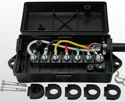 7 way trailer wire junction box cer truck weather proof