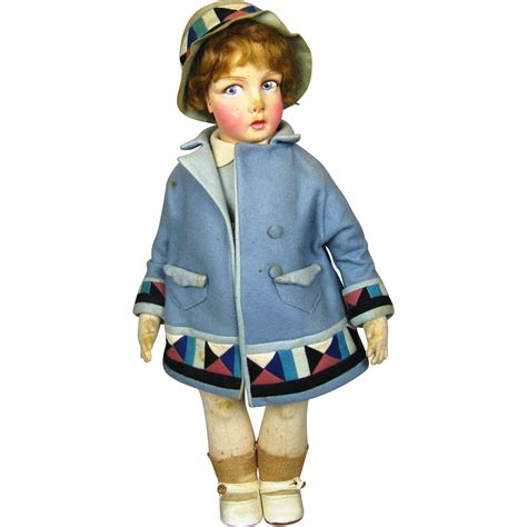lenci type doll 1930 s raynal felt lenci type doll from