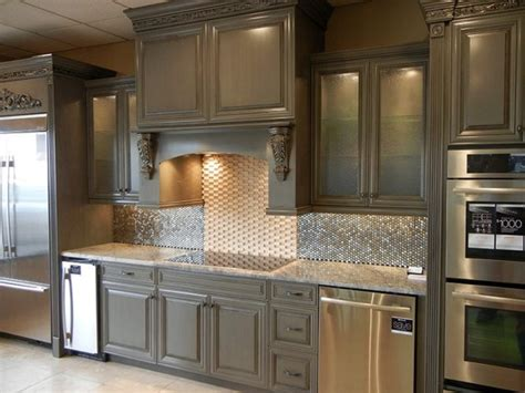 chelsea gray cabinets with black glaze for the home