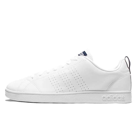 Adidas Neo Advanted Cleans White Navy adidas hoodies mens shoes adidas neo label advantage clean vs white navy mens casual