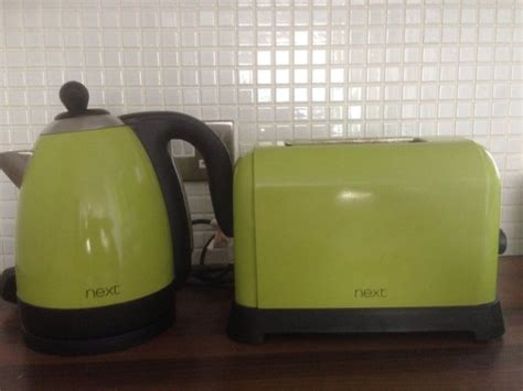 lime green kitchen appliances next lime green kettle and toaster for sale in ballyfermot