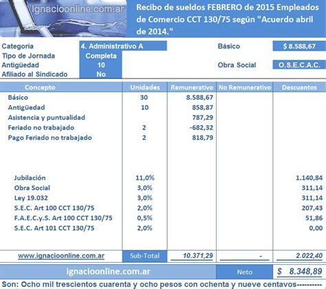 como calcular el sueldo diario 2016 como calcular sueldo empleado de comercio 2016 new style