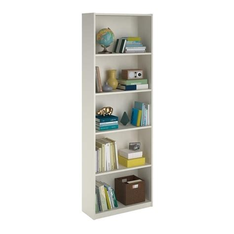 5 shelf white bookcase 5 shelf bookcase in white 9425015pcom