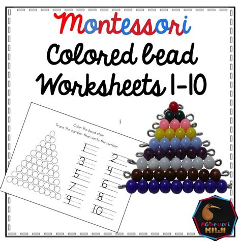 bead stair worksheets from montessori for everyone 574 best rekenen images on pinterest montessori