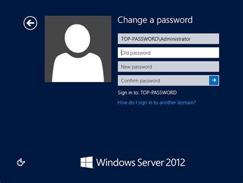 windows reset domain password reset administrator password windows server 2012