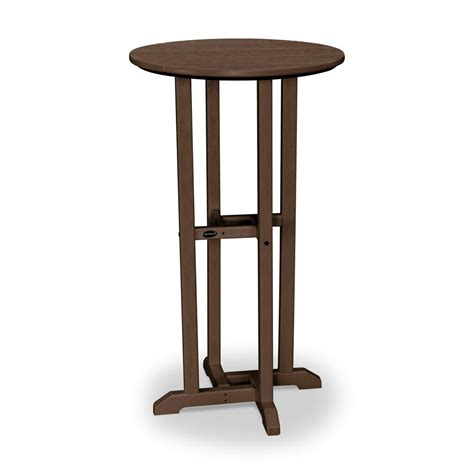 outdoor bar height table polywood outdoor patio bar height dining table rbt124ma