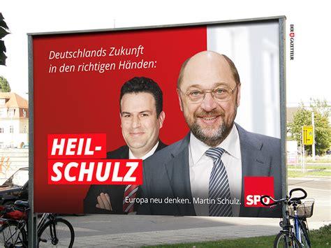 Plakat Heil Schulz spd wahlplakat der gazetteur