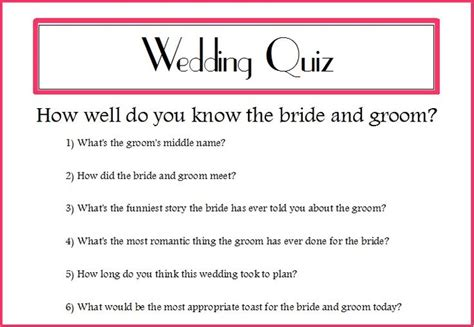 Wedding Quiz by Wedding Quizzes For Guests Search Wedding 2015