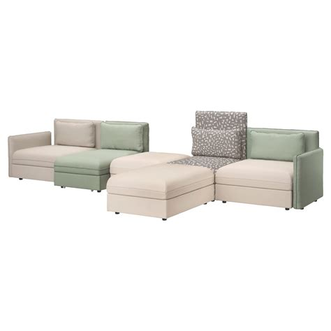 bett 100x200 vallentuna 5 seat sofa with bed murum beige hillared green