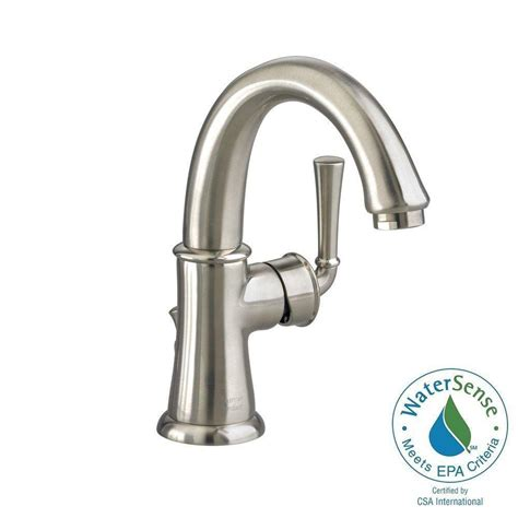 single hole bathroom faucet brushed nickel american standard portsmouth monoblock single hole single