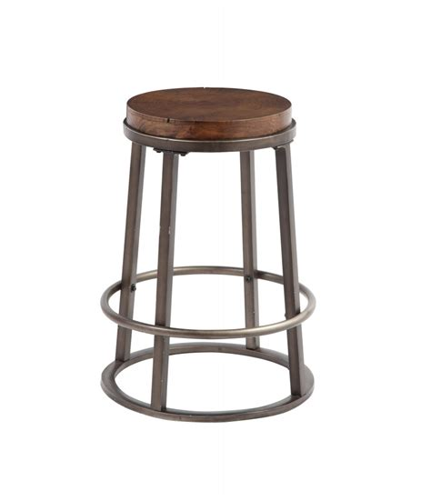 Brown Stools glosco medium brown stool set of 2