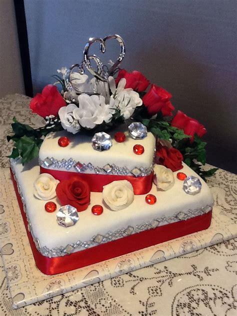 anniversary cake   cjcakecreationscom