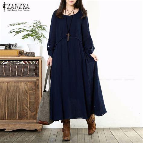 New Vestidos 2016 Autumn Dress Fashion Plus Size F 1 new arrival autumn dress 2016 vintage casual sleeve maxi dresses oversized