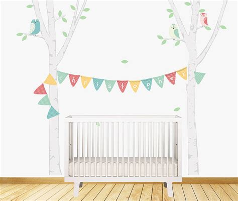 bunting wall stickers birch tree bunting wall stickers by parkins interiors notonthehighstreet