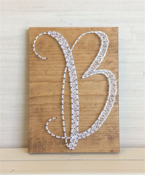 Letter String - letter b wall decor personalized string gift for